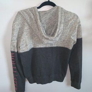 Hollister gray zip up hoodie
